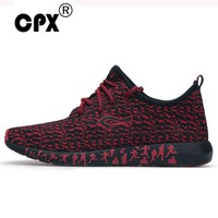 CPX Mens athletic Sneakers stretch Elastic mesh Running Shoes summer & Autumn Breathable shoes Sports leasure Shoes max size 47