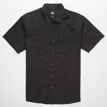 Quiksilver Everyday Stripe Mens Shirt Black  In Sizes
