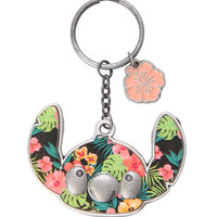 Disney Lilo & Stitch Floral Die-Cast Key Chain