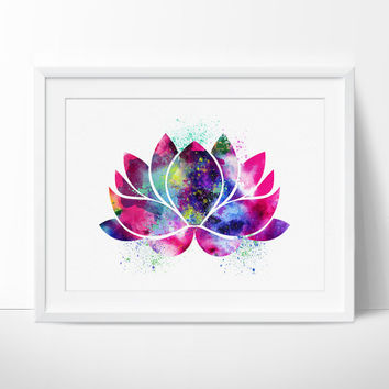 Lotus Flower Art, Yoga Artwork, Lotus Flower Decor, Watercolor Yoga Art, Buddha Art,Wall Art Print Watercolor, Yoga Poster - 36
