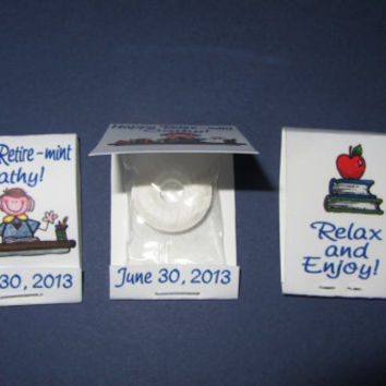 RETIREMENT PARTY FAVOR, matchbook,candy,lifesavor,thank you,mint