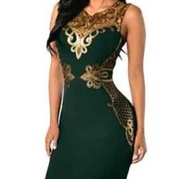 Lace Bodycon Sleeveless Evening party dress