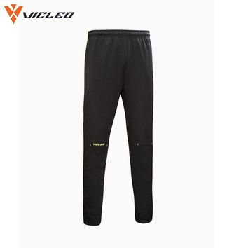 Vicleo Brand Summer Running Soccer Pants Men 100% Polyester Quick Dry Fitness Workout Run Sports Pant for Male  16Z10001