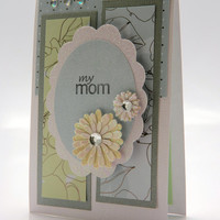 Elegant Powder Blue and Celery Green Mother's Day/Birthday Greeting Card