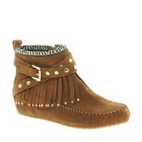 ALDO Bastiena Fringed Moccasin Boots at asos.com