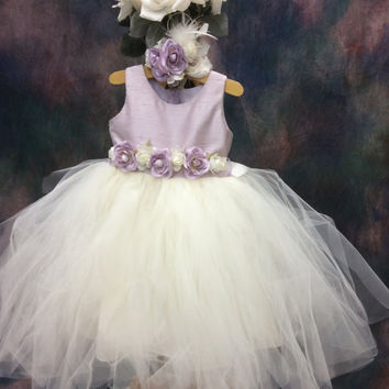 Tutu infant-flower girl-bridal-photo-prop-babygirl-LILAC