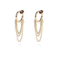 River Island Womens Gold tone chain ear cuff