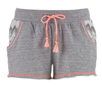 Chevron Pocket French Terry Shorts - Gray