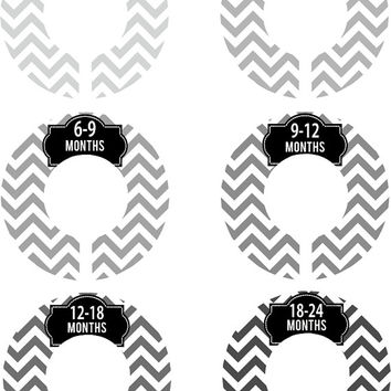 Custom Baby Closet Dividers Boy Girl Grey Black Chevron Nursery Closet Dividers Baby Shower Gift Baby Clothes Organizers Baby Nursery