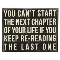 """Next Chapter"" Rustic Wall Decor Box Sign"