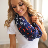 NAUTICAL ANCHOR SCARF