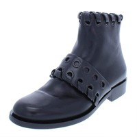 Fendi Womens Leather Ankle Casual Boots