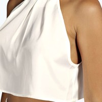 Ellen High Neck Swing Crop Top