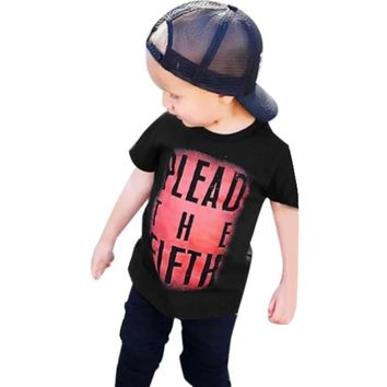 Kids boys clothes Toddler Baby Kids Boys Short Sleeve Letter T shirt Tops children Clothes Outfits Kids boys T-shirt