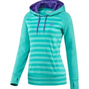 adidas Women's Ultimate Fleece Striped Hoodie