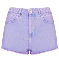 MOTO Lilac Raw Hem Hotpant - Shorts - Clothing - Topshop