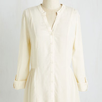 Long 3 Trusty Travel Top in Ivory
