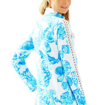 Skipper Printed Popover - Lace Sleeve   Lilly Pulitzer