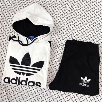 ADIDAS Top Sweater Hoodie Pants Trousers Set Two-Piece Sportswear2