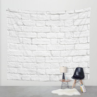 Brick Wall Wall Tapestry by Patterns And Textures