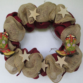 Western wreath, grapevine wreath, burlap wreath, girl cowboy wreath, cowgirl decor, cowgirl wreath, Mothers Day gift