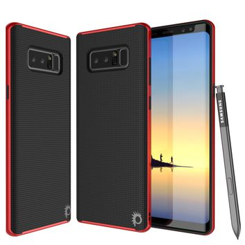 Galaxy Note 8 Case, PunkCase Stealth Red Series Hybrid 3-Piece Shockproof Dual Layer Cover