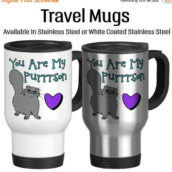You Are My Purrrson, Valentine's Day, I Love You, Valentine Gift, Together Forever, Be Mine, Anniversary, Coffee Mug, Travel Mug