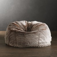 Grand Luxe Faux Fur Bean Bag Chair - Lynx | Bean Bags | Restoration Hardware