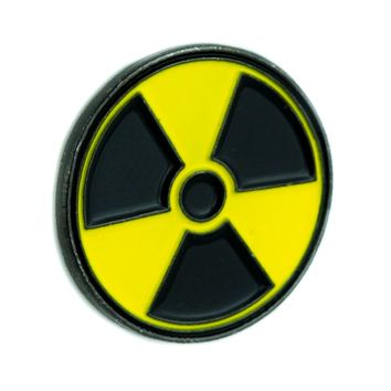 Radio Active Bio Hazard Sign Lapel Pin Alternative Jewelry Jacket Pin