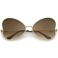 Festival Indie Oversize Butterfly Gradient Lens Sunglasses C124