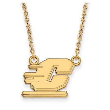 NCAA 14k Gold Plated Silver Central Michigan U Small Pendant Necklace