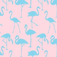 Blue Flamingo On Pink Background Photography Backdrop - 6238