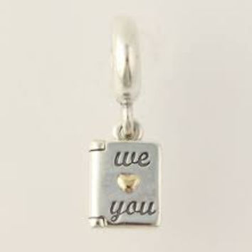 Pandora Charms We Love You Pendant Dangle Charm Bead Mother Authentic Pandora