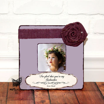 Personalized Godparents Gift Godmother Picture Frame Personalized Godmother Gift Custom Frame Baptism Gift Godparent Frame Custom Baptism