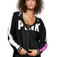 Slouchy Full-Zip - PINK - Victoria's Secret