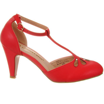 Take the Cake T-Strap Heels in Watermelon