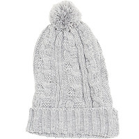 Girls Cable Pom Beanie