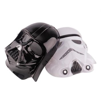 Black White Star Wars Darth Vader Full Face Mask Deluxe Halloween Superhero Theme Party Cosplay Mask Masquerade Costume Supply