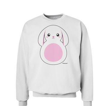 TooLoud Cute Bunny with Floppy Ears - Pink Sweatshirt