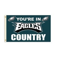 Philadelphia Eagles NFL You're in Eagles Country 3'x5' Banner Flag