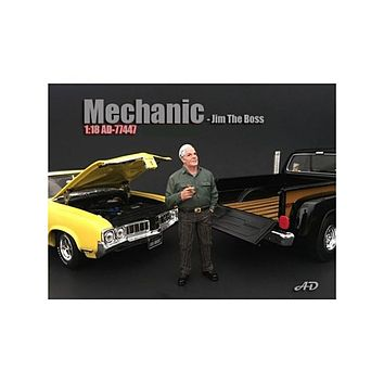 Mechanic Jim The Boss Figurine / Figure For 1:18 Models by American Diorama