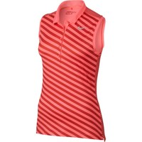Nike Ladies Precision Print Sleeveless Golf Polo Shirts - Assorted Colors