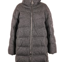 Moncler Long Wool Down Jacket
