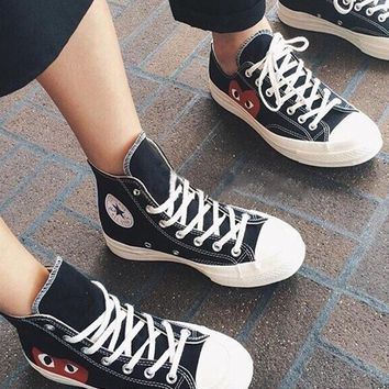 CDG PLAY x Converse Fashion Canvas Flats Sneakers Sport Shoes