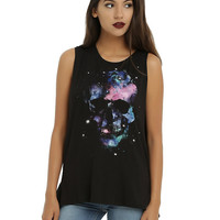 Galaxy Skull Girls Tank Top