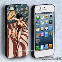 Wonder Woman American Superhero Girl iPhone 5 or 5S Case