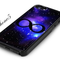 Black Snap on Galaxy Infinity Iphone 5 / 5s Case Milky Way Galaxy Pattern Iphone5