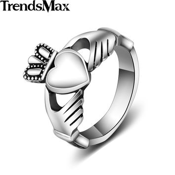 Trendsmax Love Ring Mens Womens Unisex Silver Color 316L Stainless Steel