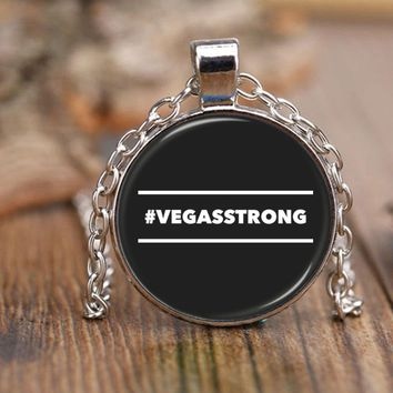 "#VEGASSTRONG HASHTAG VEGAS STRONG * 18"" Adjustable Rolo Style Chain Necklace"