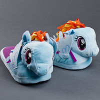 Rainbow Dash My Little Pony Slippers | Horse Slippers | BunnySlippers.com